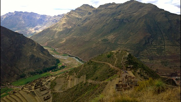 A view of the Pisac Ruins from above