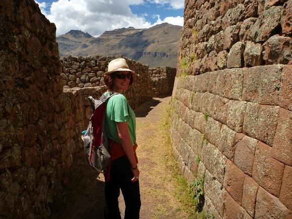 Visiting Pisac Ruins in Peru