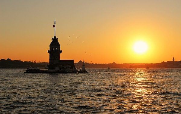 Bosphorus channel at sunset; photo by Love and road
