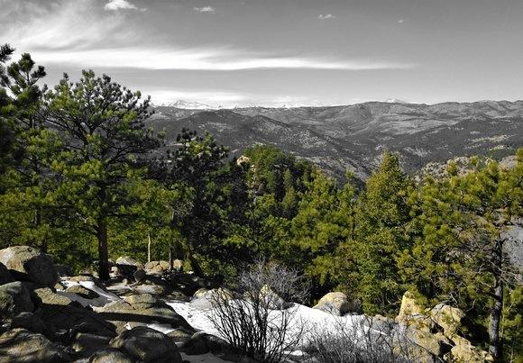 Mountain views in Boulder Colorado