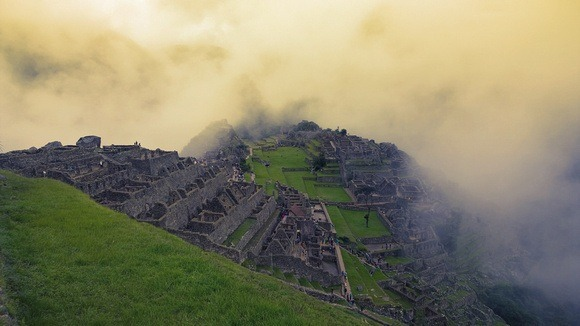 Machu Picchu in the fog; part of my cost of full-time travel in 2014 report