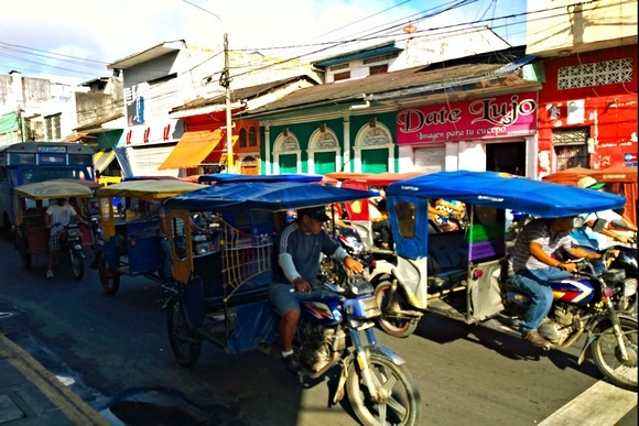 Mototaxis of Iquitos, which is the most prevalent form of transportation