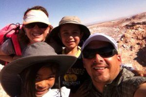 Ivan Velasco and family, working at international schools