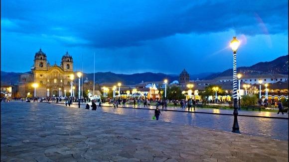 Cusco at dusk