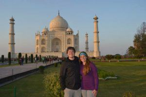 LeAnna and Andy Brown in front of Taj Mahal India