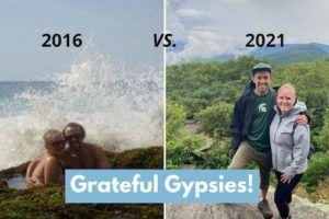 Grateful Gypsies Sasha and Rachel, 2016 vs 2021