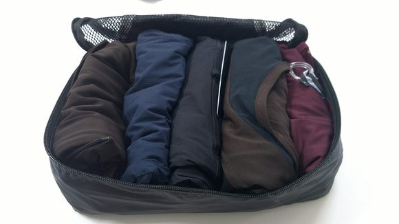 Anatomie travel clothes in a packing cube. So compact!