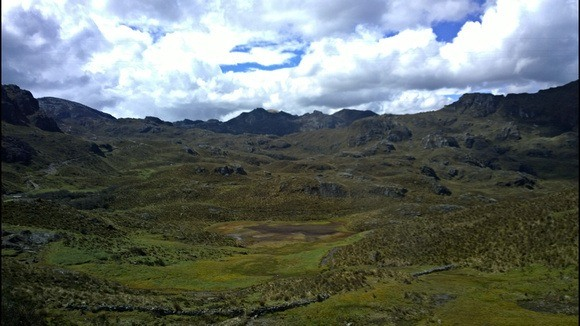 high Andean plateaus and valleys near Cuenca