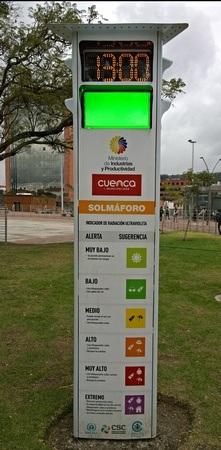 A sun meter in Cuenca's park