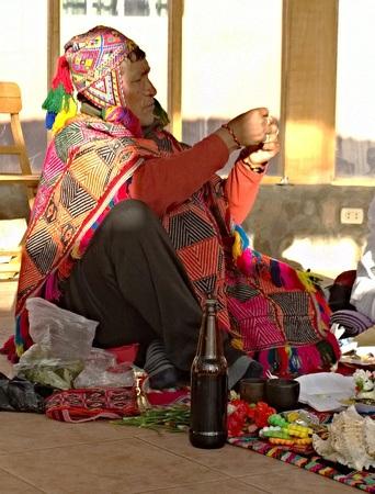 A Q'ero shaman in Peru