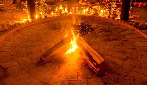 ayahuasca ceremony fire