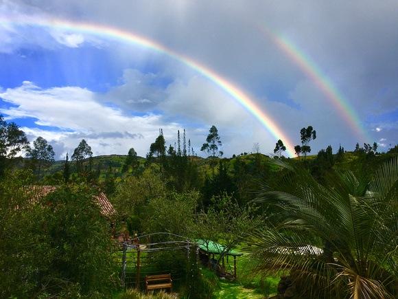 Double rainbow over the Andes of Ecuador. Visiting the Andes in Ecuador or Peru? Tough choice.