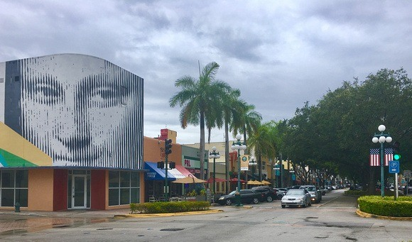 funky downtown Hollywood Florida