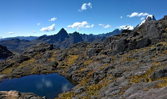 Peruvian Andes, which are much more dramatic than the Ecuador Andes