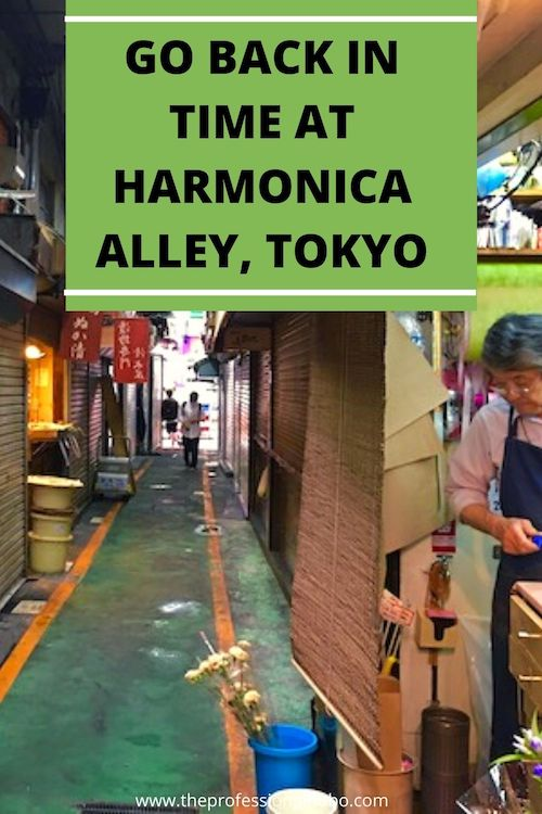 Harmonica Alley in Tokyo is a slice of what Old World Tokyo used to be like. Explore it with me! #tokyo #Japan #HarmonicaAlley #traveltips #travelvideo #TheProfessionalHobo #foodietravel