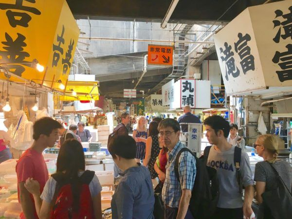 Tsukiji fish market - inner wholesale market