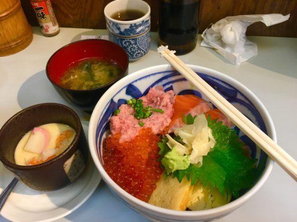 lunch at outer Tsukiji Fish Market