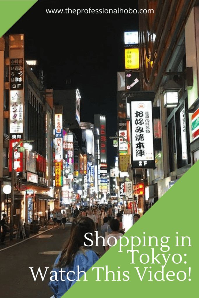 Come with me in this post and video as I go shopping in Tokyo, in a supermarket and department store. Oh the things you'll find! #shopping #Tokyo #livingabroad #TheProfessionalHobo #Japan