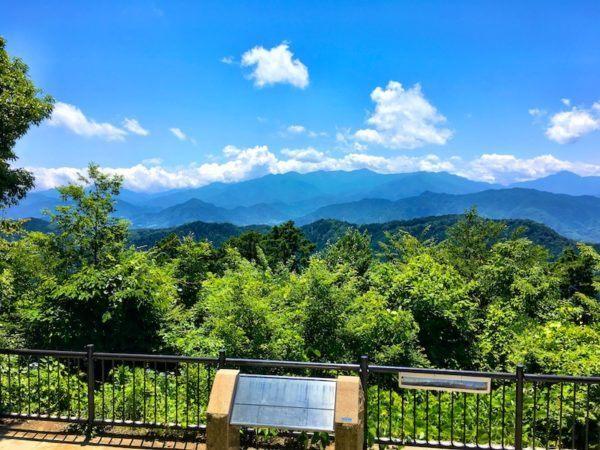view from shiroyama - japan mount takao