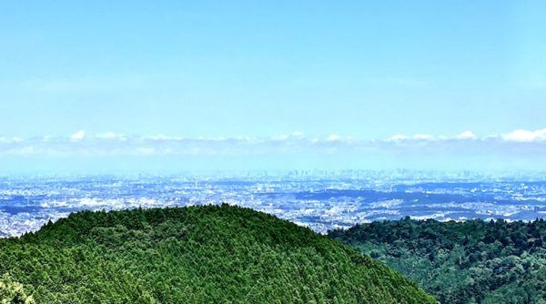 mount takao view of Tokyo