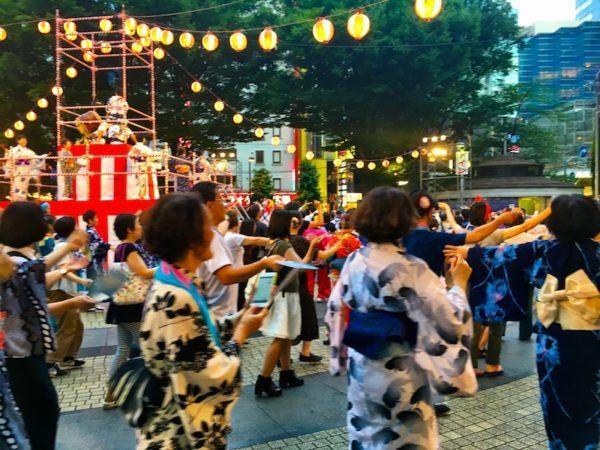 Dancing at New Bon Odori