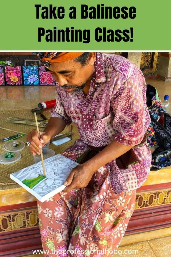 WHat it's like to take a Balinese Painting Class - it's a way of life more than an art form! #Bali #Indonesia #Balinese #TheProfessionalHobo #WithLocal