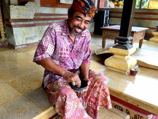 Putu, my Balinese Painting Teacher