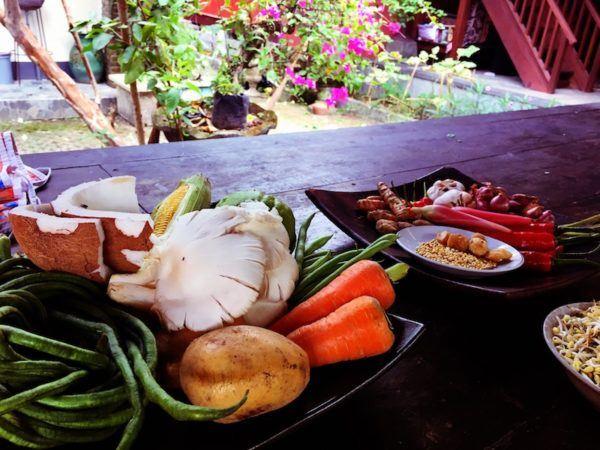 Balinese Cooking ingredients