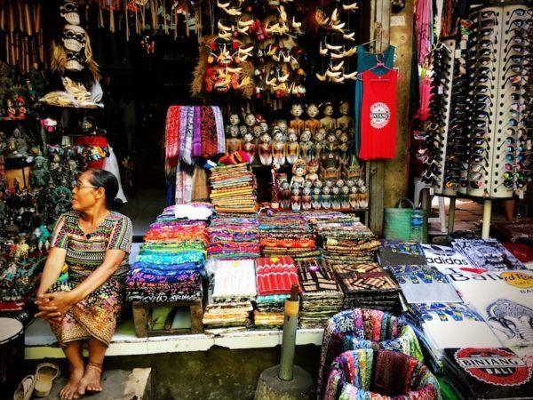 vendor at the Ubud Market - where is Ubud Market? Across from the Royal Palace!