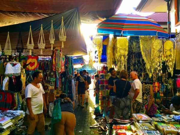 Ubud Markets wares, in Bali - so many colours and souvenirs!
