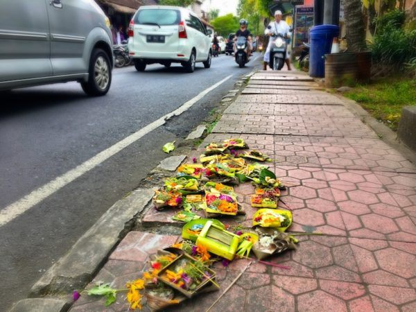 Canang Sari on the street