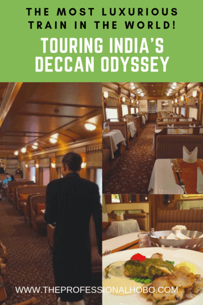 What does the most luxurious train in the world look like? It's epic. Join me on the Deccan Odyssey in India, for the ride of a lifetime! #TravelTips #TravelWebsites #LuxuryTravel #DeccanOdyssey #India #TrainTravel #Delhi #Mumbai #WhereToStay #Udiapur #Cox&Kings #Jaipur #IndiaTravel #IndiaTrainTravel