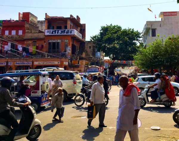 downtown Pink City, in Jaipur India