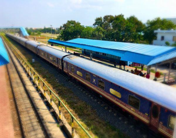 The Deccan Odyssey in India - full train