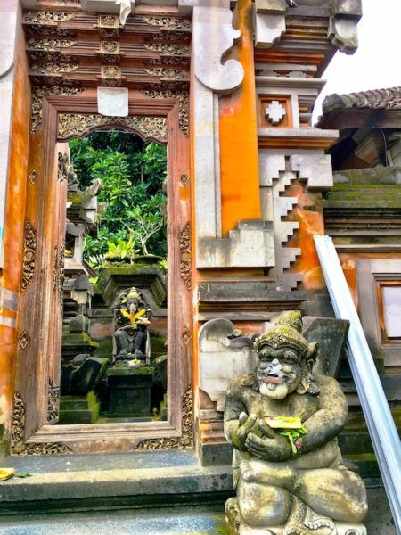 temple entrance in Ubud