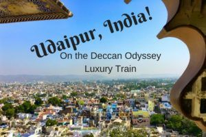 Udaipur India - as seen from the city palace via the Deccan Odyssey train