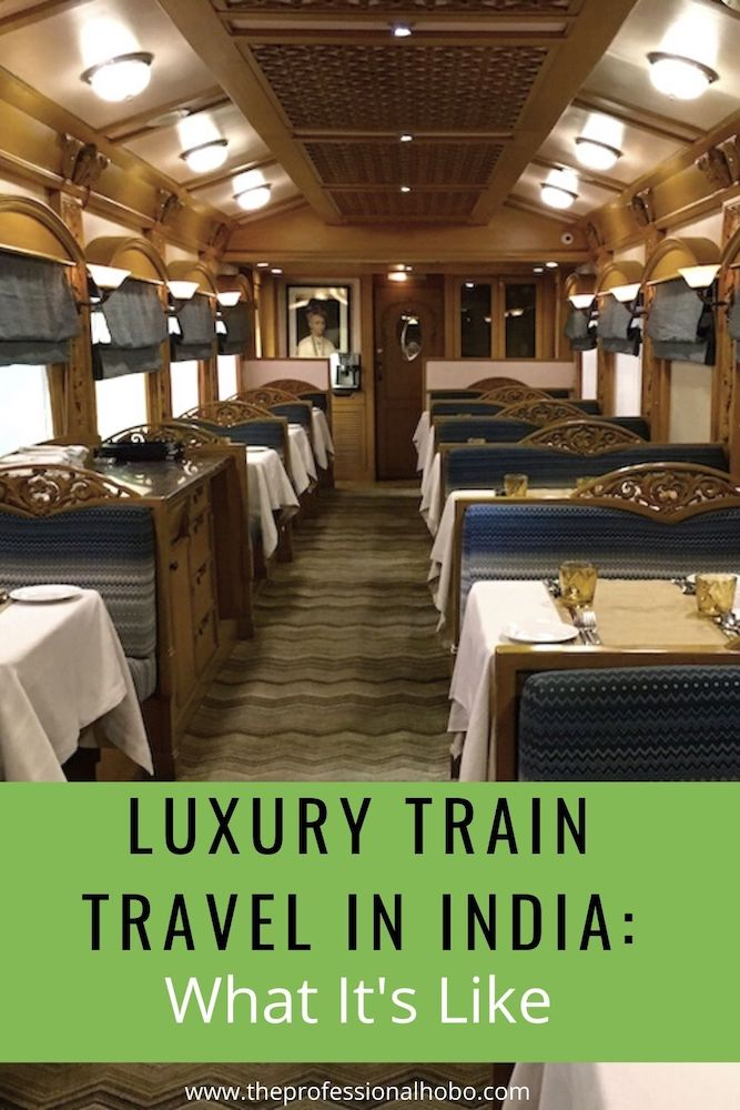 Here's what Luxury Train Travel in India is like, aboard the Deccan Odyssey. #traintravel #DeccanOdyssey #India #Indiatrain #TheProfessionalHobo #luxurytrain