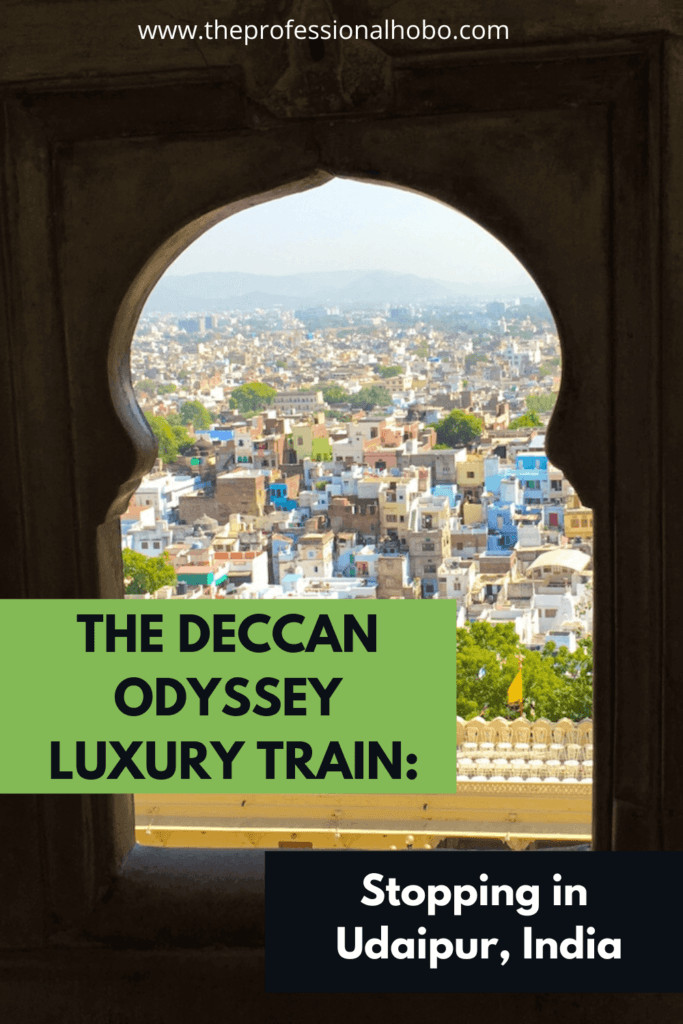 Here's what The Deccan Odyssey Train is like in India, with a stop today in Udaipur! #traintravel #DeccanOdyssey #luxurytravel #TheProfessionalHobo #India #Udaipur