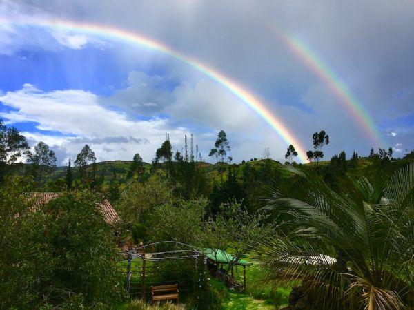 double rainbow in Ecuador