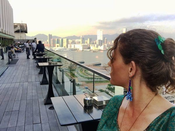 Hong Kong, from a rooftop bar