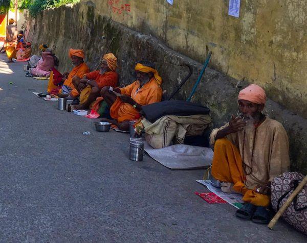 Sadhus in Rishikesh, India