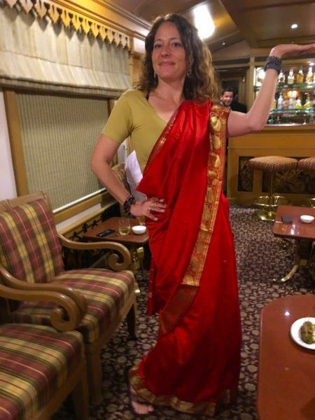 dressing up in a saree for some Bollywood action