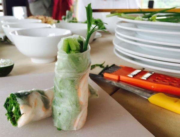 food - fresh spring rolls in Hoi An Vietnam