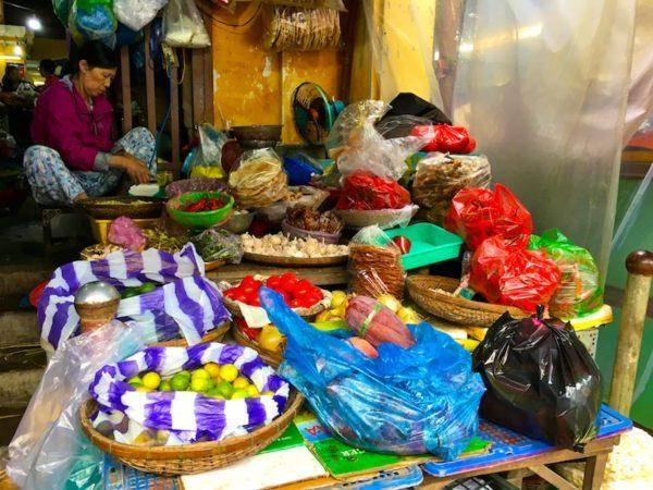 Hoi An market goods, Vietnam