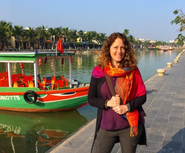 Hanging out by the river in Hoi An's old town
