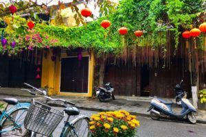 Hoi An Vietnam: old town bicycles