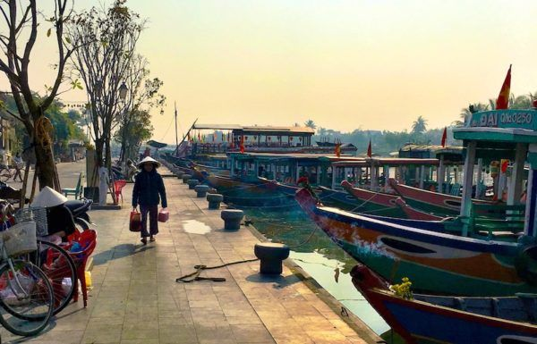 Hoi An old town early morning by river