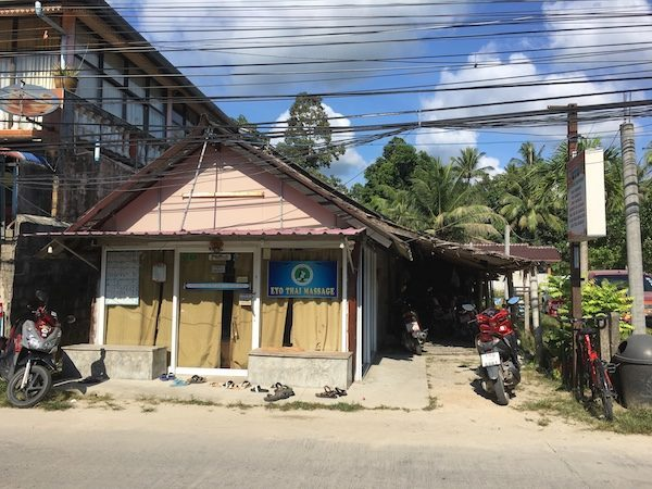 getting a massage in Koh Phangan