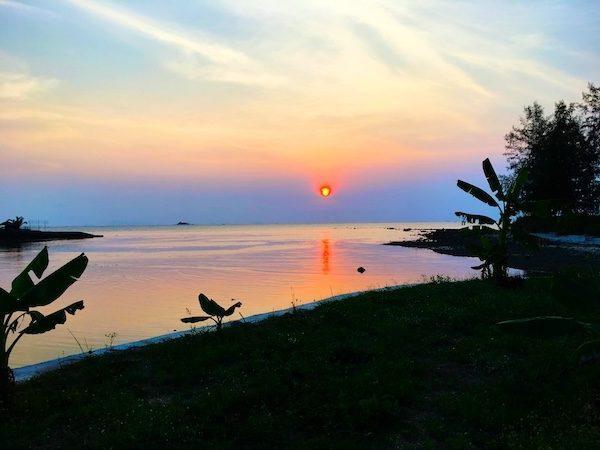 sunset in Srithanu, Koh Phangan, Thailand