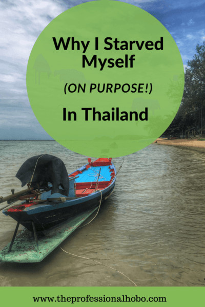 Thai food is so delicious? So why did I starve myself for 11 days in Koh Phangan? Read on to find out! #TheProfessionalHobo #kohPhangan #Thailand #detox #fasting #srithanu #traveltales